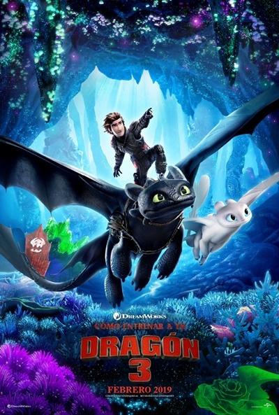 Poster Cómo Entrenar a tu Dragón 3