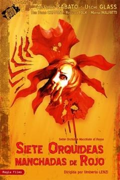 Poster Siete Orquídeas Manchadas de Rojo