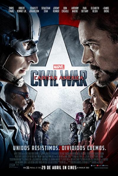 Poster Capitán América 3: Civil War