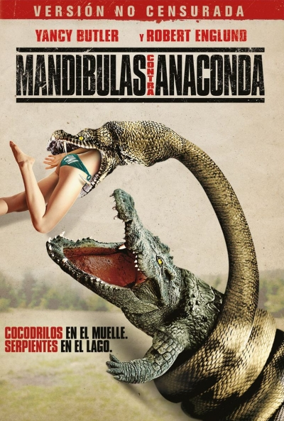 Poster Mandíbulas contra Anaconda