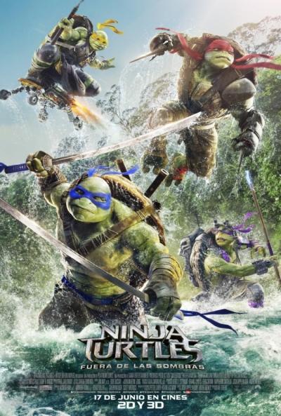 Poster Ninja Turtles 2: Fuera de las Sombras