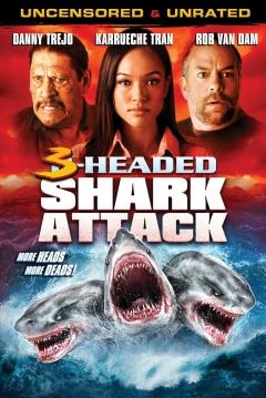 Poster El Ataque del Tiburón de 3 Cabezas