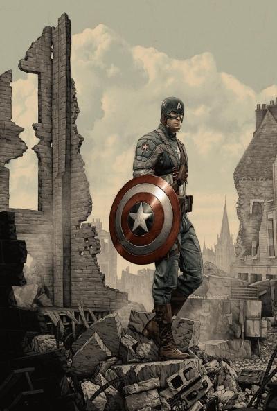 Poster Capitán América 4