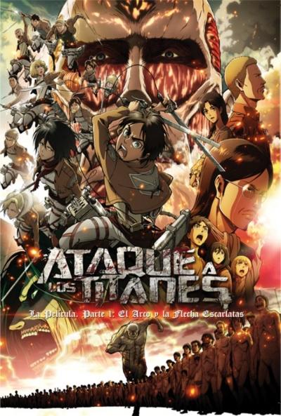 Poster Ataque a los Titanes. La Película 1. El Arco y la Flecha Escarlatas