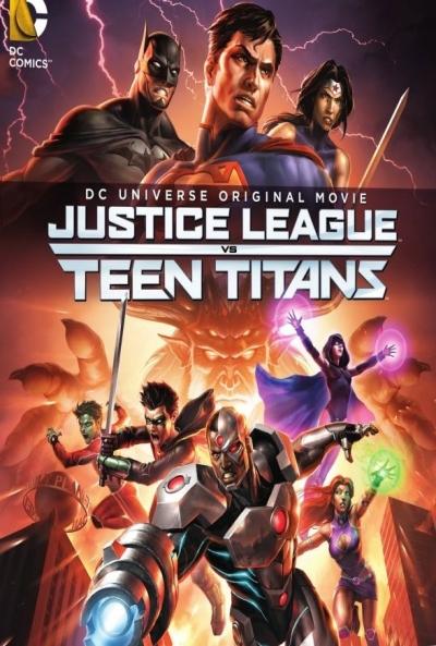 Poster La Liga de la Justicia contra los Jóvenes Titanes