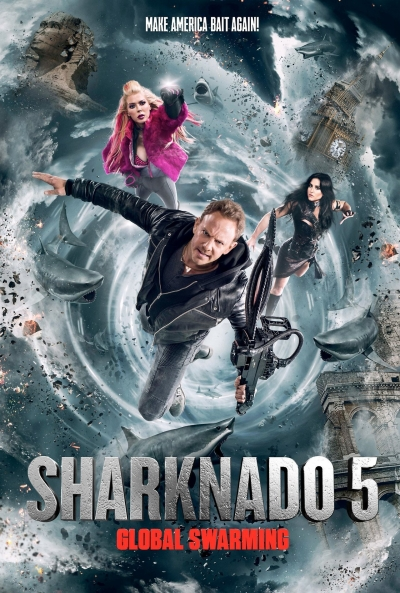 Poster Sharknado 5: Aletamiento Global
