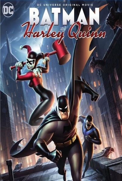 Poster Batman y Harley Quinn