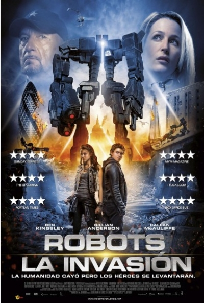 Poster Robots: La invasión (Robot Overlords)