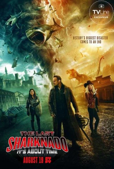 Poster El Último Sharknado: Ya Era Hora (Sharknado 6)