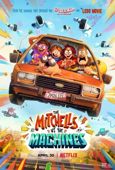 Poster Los Mitchell contra las Máquinas