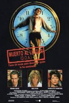 Poster Muerto al Llegar