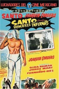 Poster Santo contra Hombres Infernales
