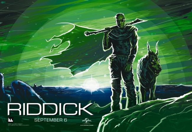 Nuevo póster ilustrado para Riddick