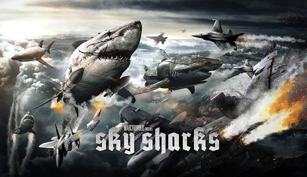 'Sky Sharks': tiburones voladores + zombies nazis
