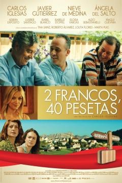 Poster 2 Francos, 40 Pesetas