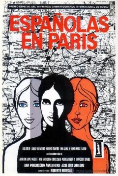 Poster Españolas en París