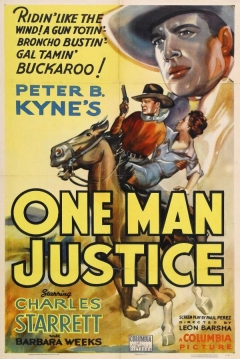 Poster One Man Justice