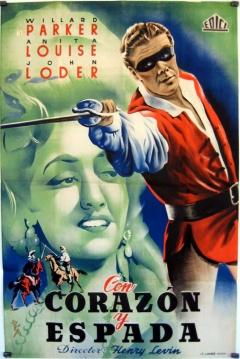 Poster Con Corazón y Espada
