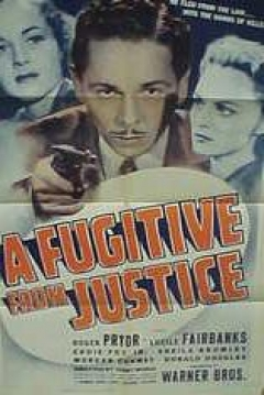Poster A Fugitive from Justice