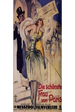 Poster Die schönste Frau von Paris