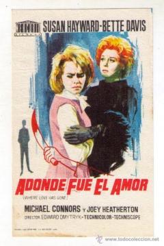 Poster Adonde fue el Amor