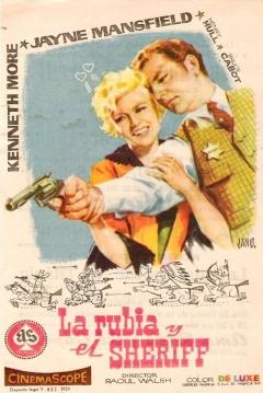 Poster La Rubia y el Sheriff