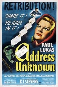 Poster Address Unknown