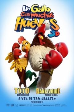 Poster Un Gallo con Muchos Huevos