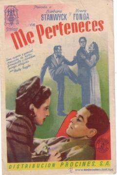 Poster Me Perteneces