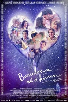 Poster Barcelona, Noche de Invierno