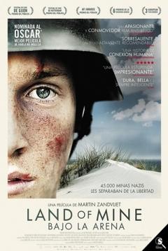 Poster Land of Mine. Bajo la Arena