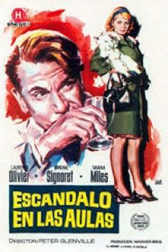 Poster Escándalo en las Aulas