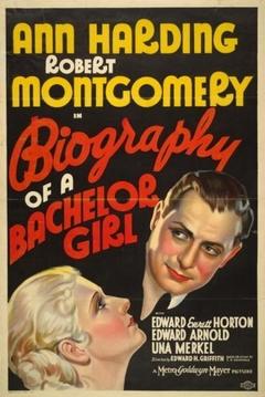 Poster Biography Of A Bachelor Girl