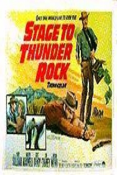 Poster Diligencia a Thunder Rock
