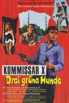 Poster Comisario X y los tres Perros Verdes