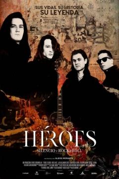 Poster Héroes. Silencio y Rock & Roll
