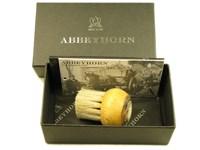 Beechwood & Horn Mushroom Handled Shaving Brush