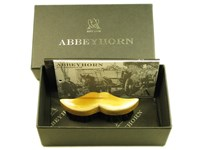 Oxhorn Backed Moustache Brush - Beech Wood