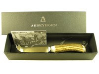Stag Antler Handle Cheese Knife