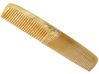 """6 1/2"""" Horn Comb & Leather Case"""