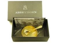 Horn Salt Dish & Horn Spoon Set
