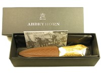 Stag Antler Sgian Dubh Knife With Steel Cap