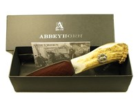 Stag Antler Handle Sgian Dubh With Thistle End