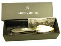 Ox Horn & Beechwood White Shoe Brush Polish Applicator