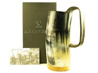 1 Pint Polished Cow Horn Soldiers Mug
