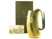 Medium Polished Cow Horn Soldiers Mug