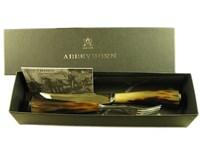 Polished Horn Handle Steak Knife & Fork