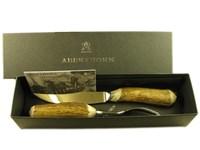 Steak Knife & Fork - Stag Antler