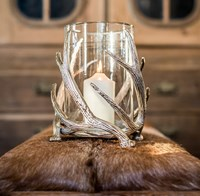 Twisted Antler Hurricane Lantern