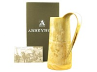 Medium Rough Finished Cow Horn Viking Mug / Tankard
